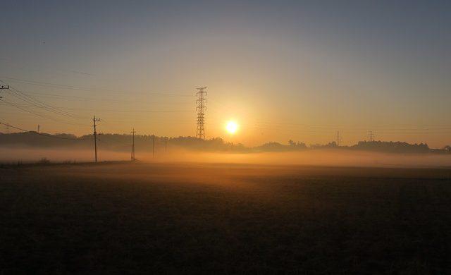 冬至の日の出