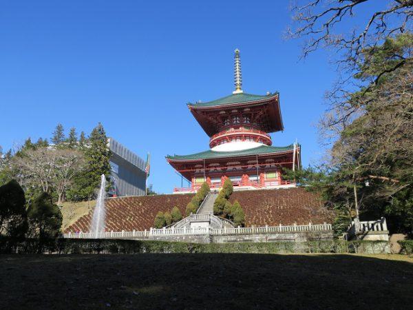 成田山新勝寺 公園から見た平和大塔